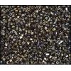 2 Cut Beads Opaque Brown Aurora Borealis 10/0